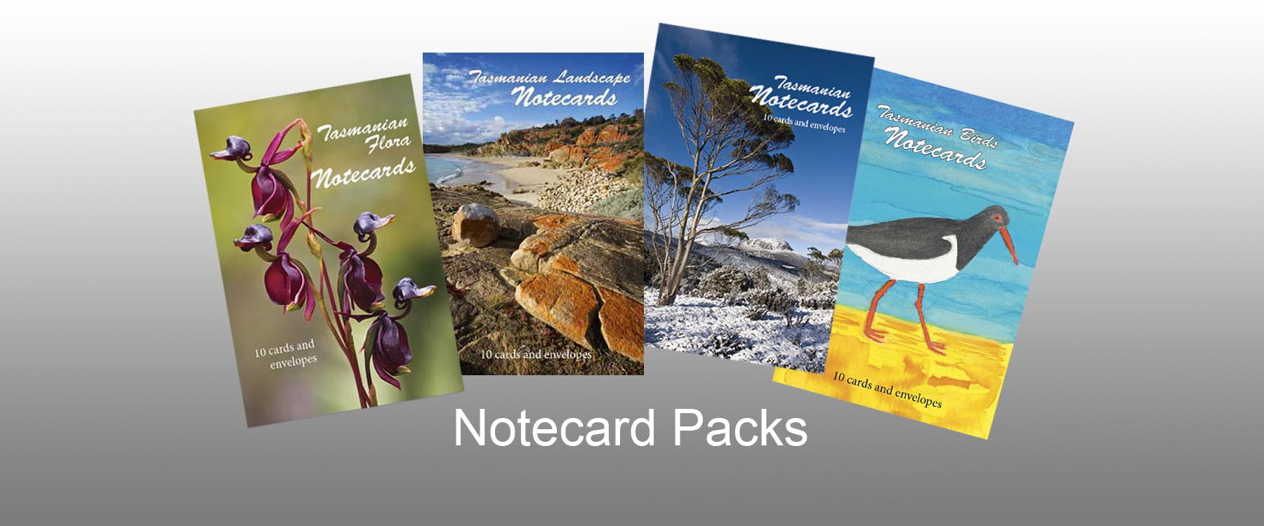 4 Notecard Packs with background
