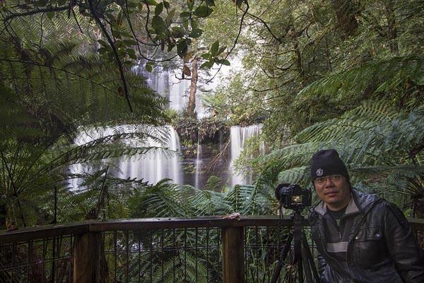 Choon at Russell Falls