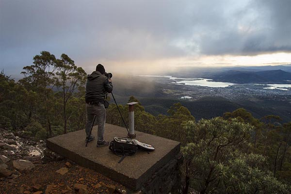 Choon on Mt Wellington 1