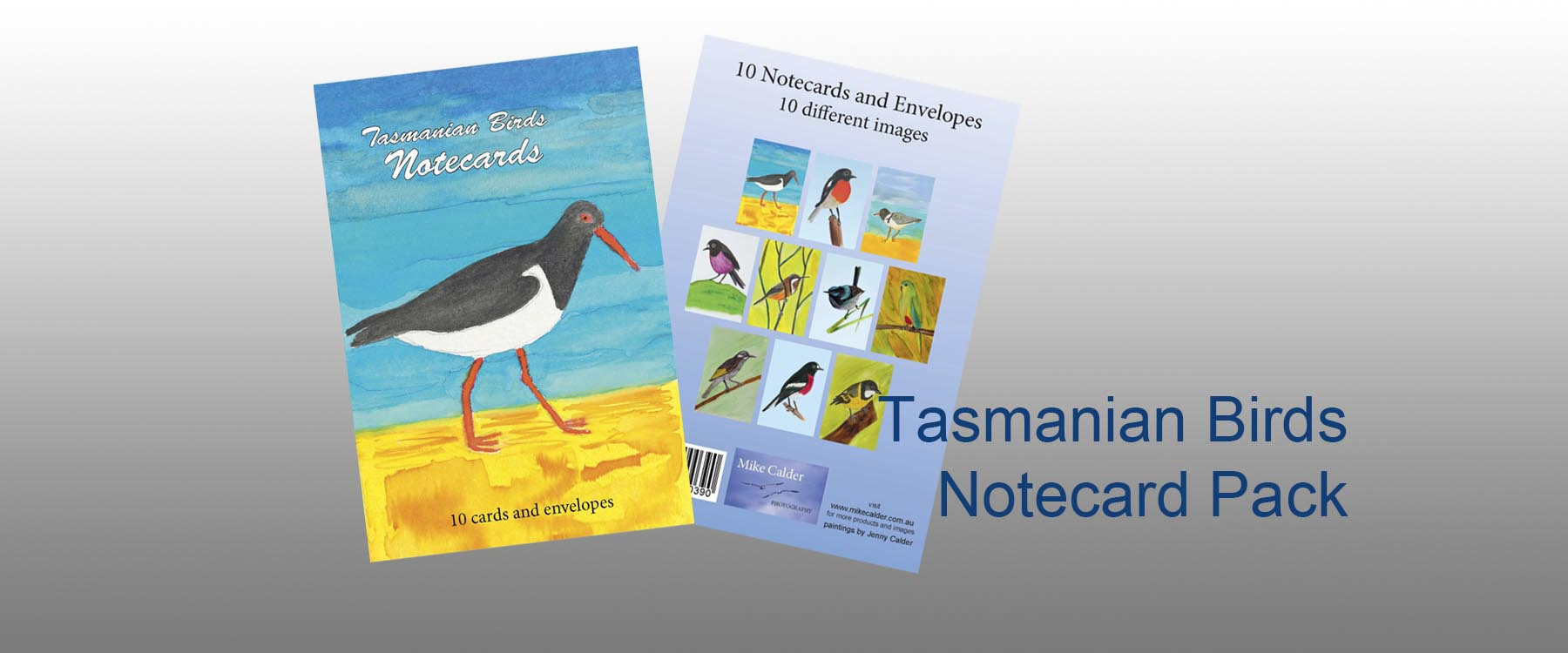 Tasmanian Birds Notecard Pack for home page