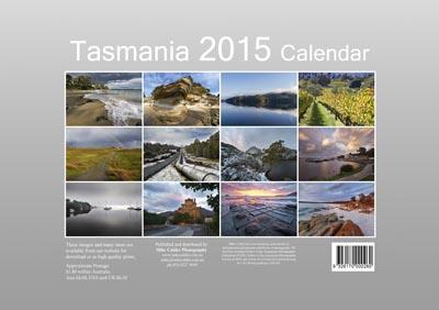 large calendar back cover